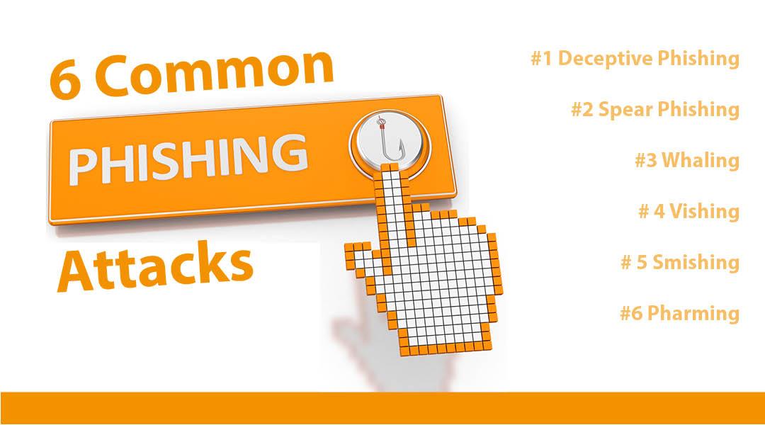 6 typische Phishing-Attacken